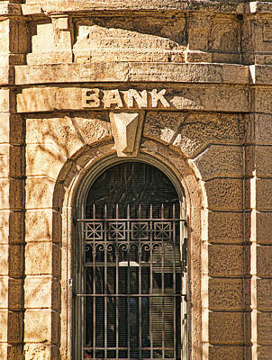 Photograph - Bank - Madison - Wisconsin by Steven Ralser