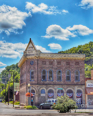 Photograph - Bank Of Alderson Historic Building by Kerri Farley