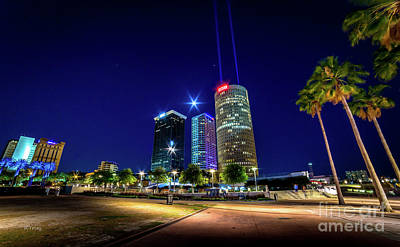 Photograph - Bank Of America And Sykes Building Downtown Tampa by Rene Triay Photography