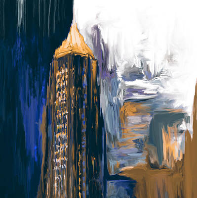 Painting - Bank Of America Plaza 230 3  by Mawra Tahreem