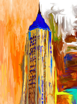 Painting - Bank Of America Plaza 230 4 by Mawra Tahreem