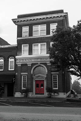 Photograph - Bank Of Buford Red Door by Doug Camara