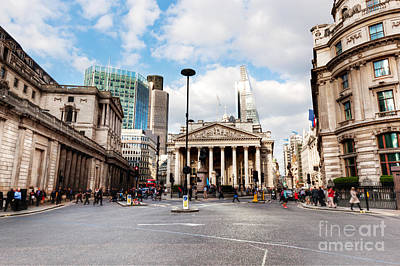 Exchange Photograph - Bank Of England, The Royal Exchange In London, The Uk by Michal Bednarek