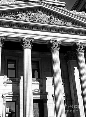 Photograph - Bank Of Montreal Columns by John Rizzuto