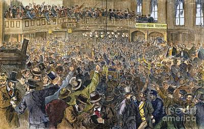 Bank Panic: 1869 Art Print