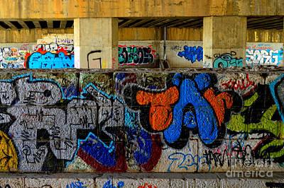 School Tote Bags - Bank Wall             Graffiti  by Urban Artful