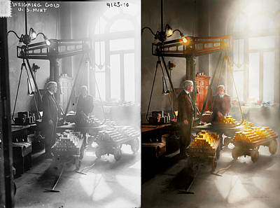 Photograph - Banker - Worth Its Weight In Gold 1917 Side By Side by Mike Savad