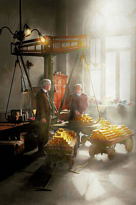 Photograph - Banker - Worth Its Weight In Gold by Mike Savad
