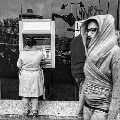 Money Wall Art - Photograph - Bank #bank #money #streetphoto_bw by Rafa Rivas