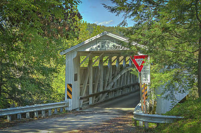 Photograph - Banks Covered Bridge by Jack R Perry
