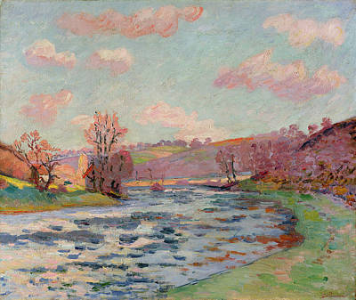 Bank Clouds Hills Painting - Banks Of The Creuse by Jean Baptiste Armand Guillaumin