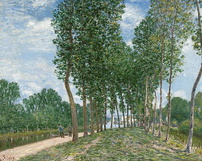 Painting - Banks Of The Loing At Moret  by Alfred Sisley