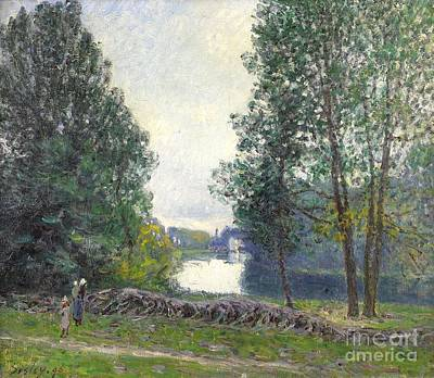 Loing Painting - Banks Of The Loing by MotionAge Designs