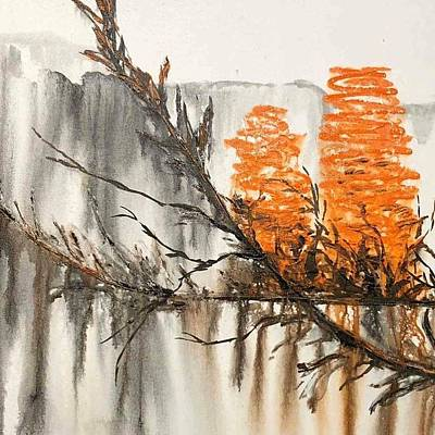 Painting - Banksia by Kathy  Karas