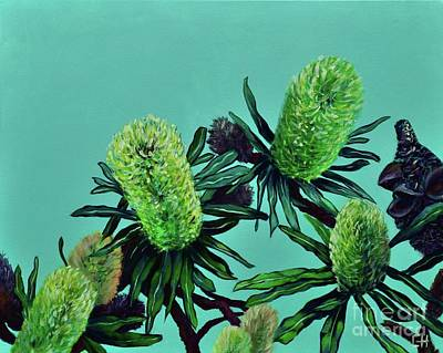 Painting - Banksias by Chris Hobel