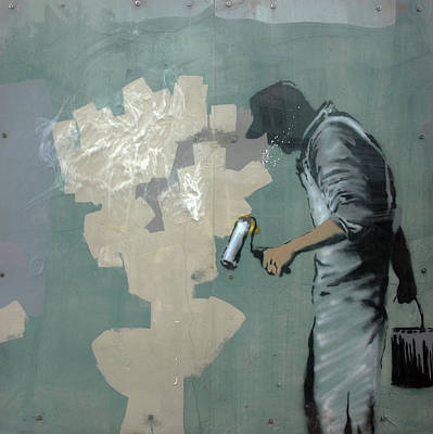 Photograph - Banksy In New Orleans by Mary Capriole