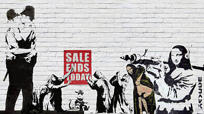 Digital Art - Banksy - The Tribute - Saints And Sinners by Serge Averbukh