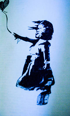 Banksy Drawing - Banksy's Girl by Margo Kurtzke
