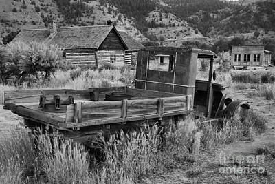 Photograph - Bannack Extended Parking Black And White by Adam Jewell