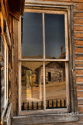 Photograph - Bannack Ghost Town Reflections by Adam Jewell