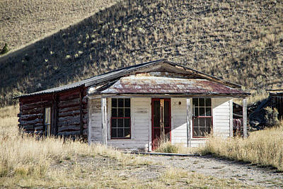 Photograph - Bannack House On The Hill by Teresa Wilson