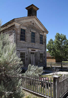 Bannack Ghost Town Photograph - Bannack Masonic Hall by David Salter