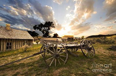 Hay Wagon Photograph - Bannack Montana Ghost Town by Bob Christopher