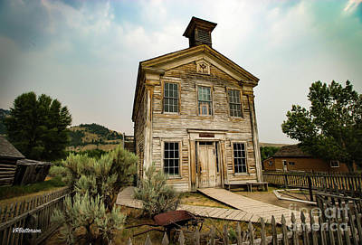 Bannack State Park Montana Photograph - Bannack Montana Masonic Lodge And School House Two by Veronica Batterson