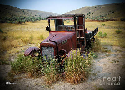 Bannack State Park Montana Photograph - Bannack Montana Old Truck Two by Veronica Batterson
