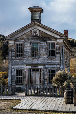 Photograph - Bannack School House by Paul Freidlund
