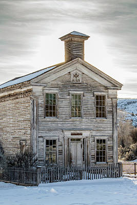 Bannack Schoolhouse And Masonic Temple Art Print by Teresa Wilson