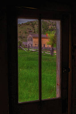 Photograph - Bannack Schoolhouse by Thomas Hall