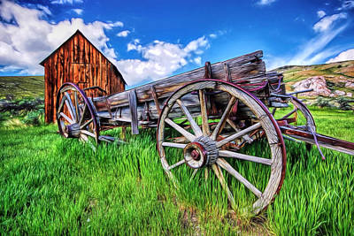 Painting - Bannack Wagon by Joe Sparks