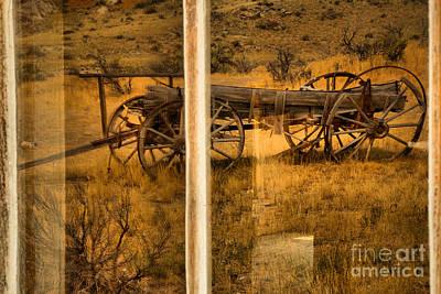 Photograph - Bannack Wagon Reflections by Adam Jewell