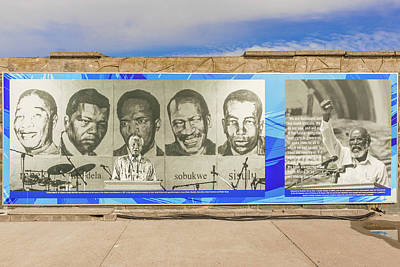 Photograph - Banner On The Wall At The Dock At Robben Island by Marek Poplawski