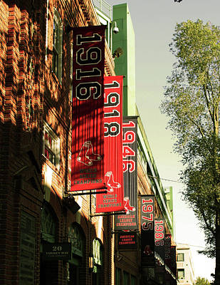 Redsox Photograph - Banner Year by Sarah Spencer