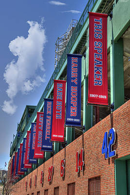 Banners Of Glory - Fenway Park - Boston Print by Joann Vitali