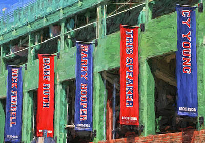 Photograph - Banners Of The Stars # 1  - Fenway Park by Allen Beatty