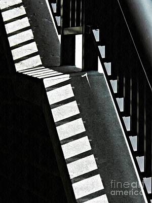Photograph - Bannister And Shadows by Sarah Loft