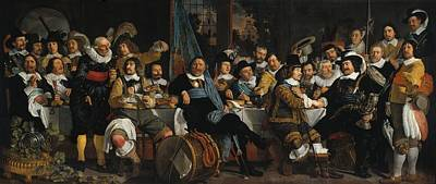 Banquet Of The Amsterdam Civic Guard In Celebration Of The Peace Of Munster Art Print by Mountain Dreams