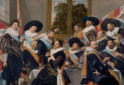 Painting - Banquet Of The Officers Of The Calivermen Civic Guard, Haarlem by Frans Hals