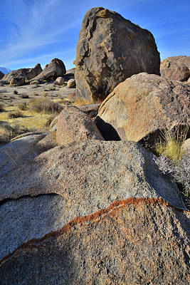Photograph - Bans Of Color In The Alabama Hills by Ray Mathis