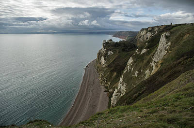 Photograph - Banscombe Beach From Beer Head by Pete Hemington