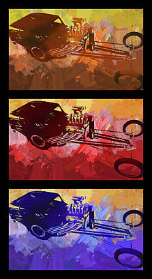 Digital Art - Bantam Dragster Triple by David King