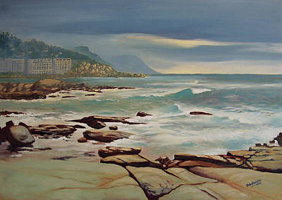 Painting - Bantry Bay Cape Town by Deon West