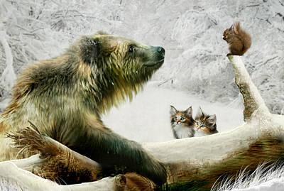 Squirrel Digital Art - Banyan Bobby And The Boys by Julie L Hoddinott