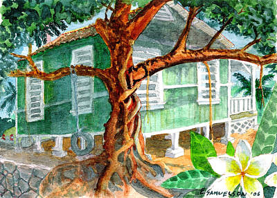Banyan In The Backyard Art Print