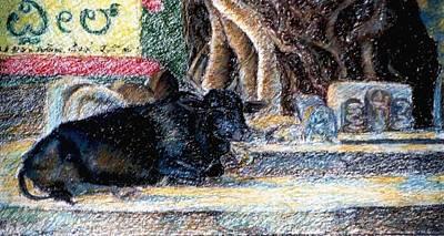 Banyan Tree Bull Art Print by Claudio  Fiori