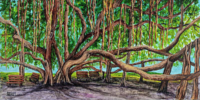 Painting - Banyan Tree Park by Darice Machel McGuire