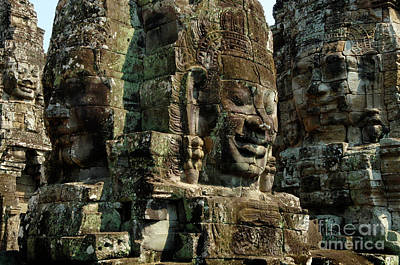 Photograph - Angkor Wat Banyon Cambodia by Bob Christopher